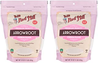 Bob's Red Mill Arrowroot Starch / Flour 2 Pack (16 oz each) - Gluten Free Cooking and Baking Thickener - 2 Pack Cornstarch Substitute (32 oz total)