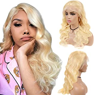 613 Lace Front Wig Human Hair Pre Plucked with Baby Hair for Black Women Blonde Body Wave wigs 150% Density Brazilian Virgin Hair 16 inch