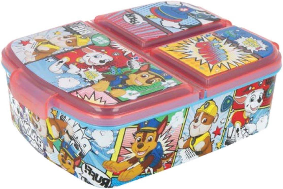 Theonoi Fiambrera para niños / Fiambrera / Fiambrera a elegir: Frozen PJ Masks Spiderman Avengers - Mickey - Paw de plástico libre de BPA - Gran regalo para niños (Patrulla Canina)