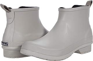 حذاء المطر الكلاسيكي للنساء من Choka برقبة طويلة للمطر ، رمادي داكن ، 6
