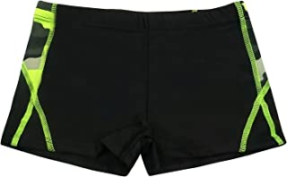 Boys Swimming Trunks Drawstring Mesh Lined Quick Dry Boxer Briefs 4-8T
