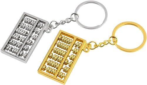 popular Larcele wholesale Mini Abacus Keychain Key Ring Decor for Handbag, Gold and Silver, 6 Column sale SPYSK-01 outlet online sale