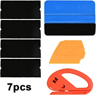 BONNIO Vinyl Wrap Tool Kit for Car Window Tint Film with Snitty PP Squeegee,Fiber//Suede Edge Squeegee