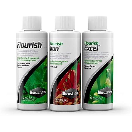 Seachem Plant Pack Fundamentals | Flourish | Flourish Excel | Flourish Iron | 100 ml Each Bottle |Happy Fins