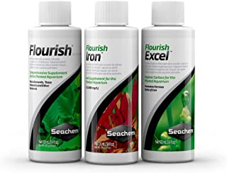 Seachem Plant Pack Fundamentals | Flourish | Flourish Excel | Flourish Iron | 100 ml Each Bottle |Happy Fins