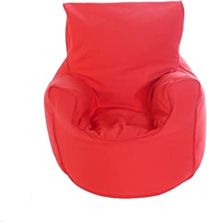 Kiddies Bean Bag Seat Arm Chair With Beans Red