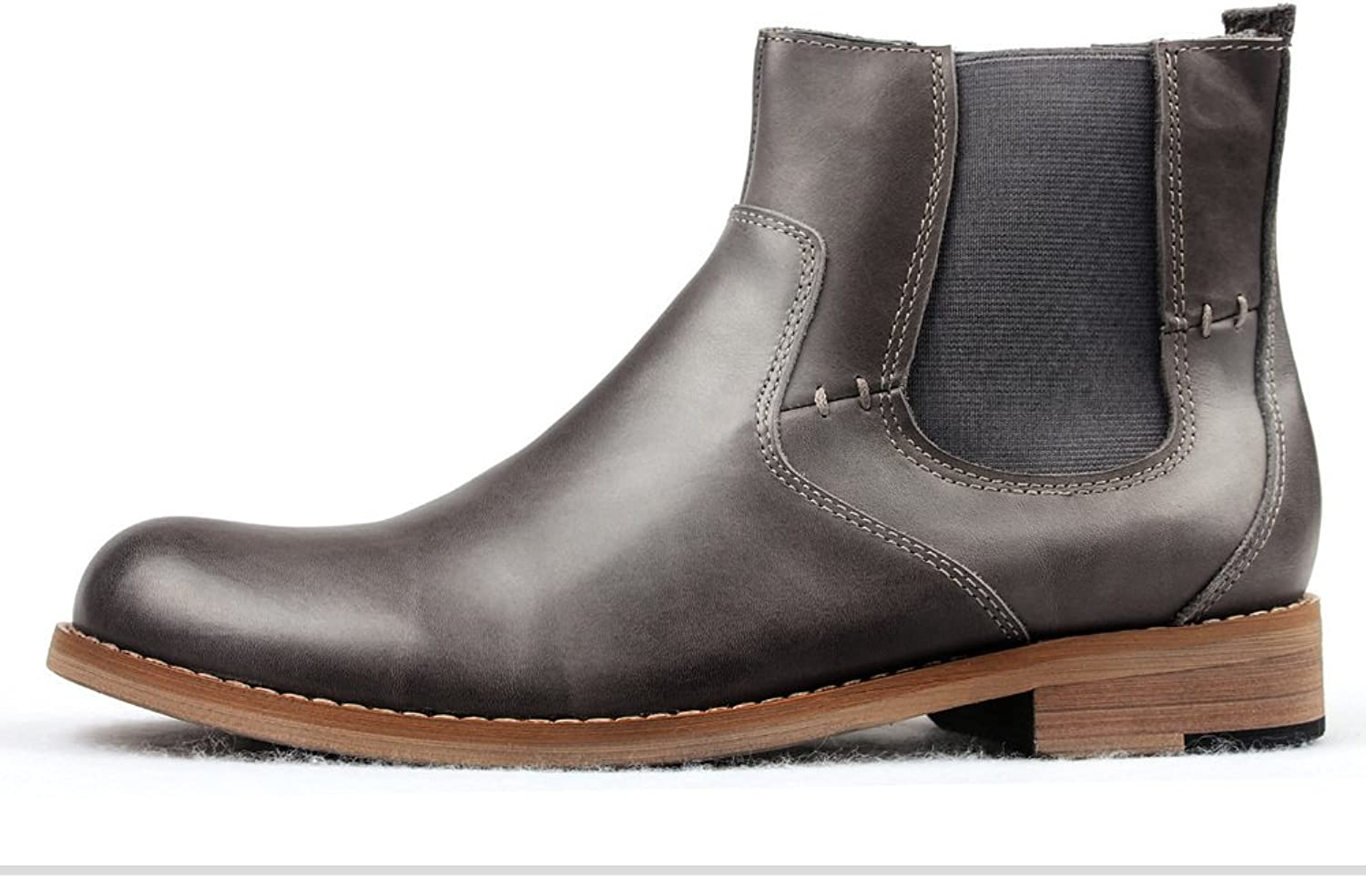 Fall Winter Men's Boots Old Boot Leather Knight Boots