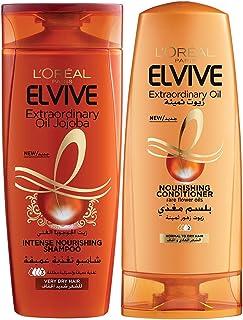 L'oreal Elvive Oil Shampoo Dry Hair 400ml + Conditioner 400ml Dry Hair