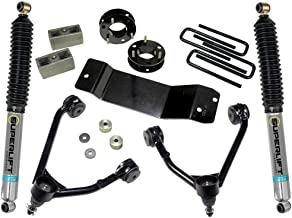 Superlift 3.5 inch Lift Kit - 2007-2016 Chevy Silverado and GMC Sierra 4WD with CAST Steel Control arms - with Bilstein Rear Shocks | 3700B