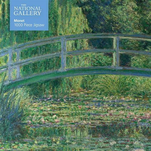 National Gallery - Monet - Bridge over Lily Pond Jigsaw: 1000-piece Jigsaw Puzzles