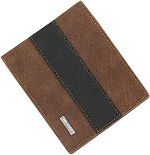BeniNew men's wallet short large capacity multi-card package three discount matte wallet-light brown