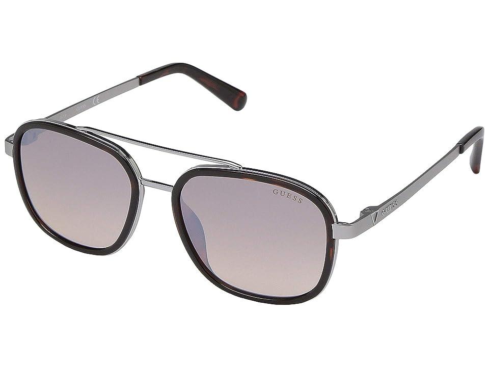 GUESS GU6950 (Dark Havana/Brown Mirror) Fashion Sunglasses