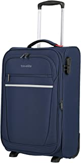 travelite 2-Wheel Hand Luggage Suitcase 35 cm Wide with Expansion Pleat and Lock Meets IATA Cabin DF: Compact Soft Luggage...