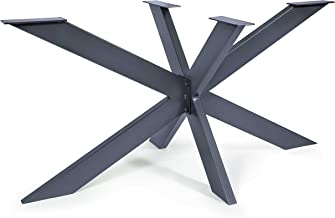 Tafelframe Spider tafelpoten kruisframe zware tafellopers stalen metalen eettafel bureau vergadertafel (Antraciet)