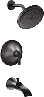 Moen TS2203BL Doux Posi-Temp Pressure Balancing Tub and Shower Trim Kit, Valve Required, Matte Black (Renewed)