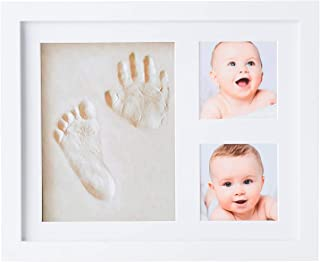 SHARX Non Toxic Clay FootPrint & Handprint Impression Photo Frame Newborn Baby Art Shower Gift Keepsake Children & Toddler