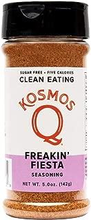 Kosmos Q Freakin' Fiesta Seasoning | All-Purpose Spice Mix | All-Natural Southwestern Herbs & Spices | Paleo & Keto Diet Friendly Blend | Sugar-Free, MSG-Free | 5 Calories | 5.0 oz. Shaker Bottle