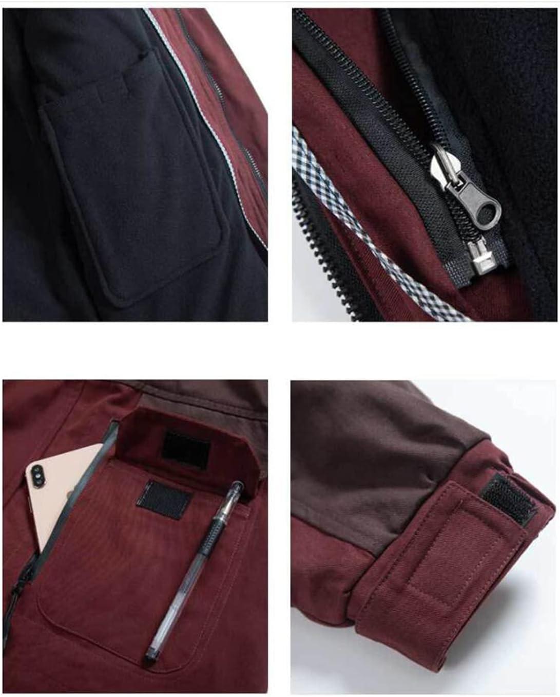 Winter Warm Jacket Long Sleeve Hooded Workwear with Fleece Lining Used in Industry Welder Workshop