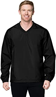 Tri-Mountain Mens Wind/Water-Resistant Lightweight V-Neck Collar Shell Windshirt