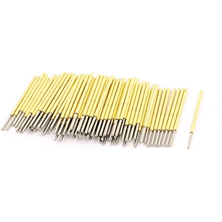 uxcell P100J Spherical Tip Spring Loaded Test Probe Pin 33mm Length 100Pcs