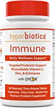 Immune: Hyperbiotics Daily Immune & Wellness Support—Probiotics With Bioavailable Vitamin C, Zinc, Echinacea, & EpiCor (Sa...