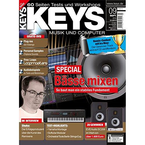 Keys 9 2016 mit DVD - Bässe mixen - Voxengo Plug-ins - Personal Samples - Free Loops - Audiobeispiele