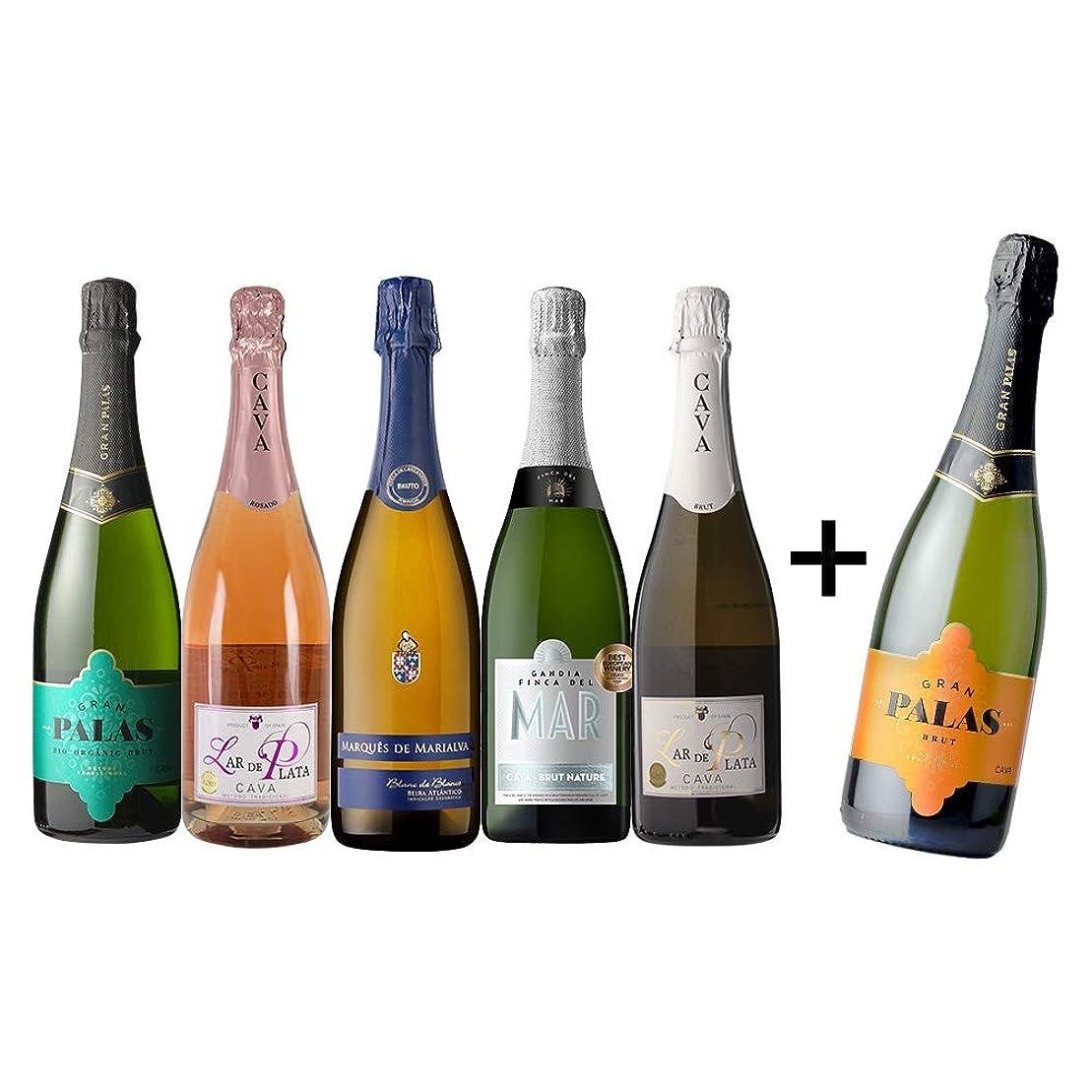 アルファベット順利用可能民主主義すべてシャンパン製法 超コスパ 極上辛口スパークリング5本セット (Amazon出荷)
