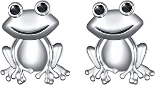 S925 Sterling Silver Frog Heart Necklace Ring Bracelet Earrings Jewelry Set for Women Girl