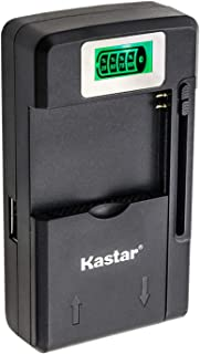 Kastar Intelligent Mini Travel Charger (with High Speed Portable USB Charge Function) for PDA Camera Li-ion Battery Digita...