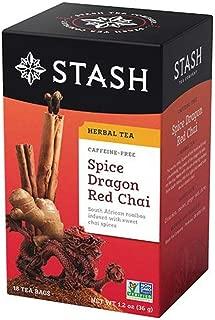Stash Herbal Tea Caffeine Free Spice Dragon Red Chai -- 18 Tea Bags