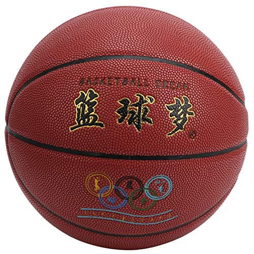 logozoee Deportes de Pelota, Rebote Flexibilidad Buena estanqueidad al Aire Tamaño 7 Baloncesto, Duradero para Hombres niños