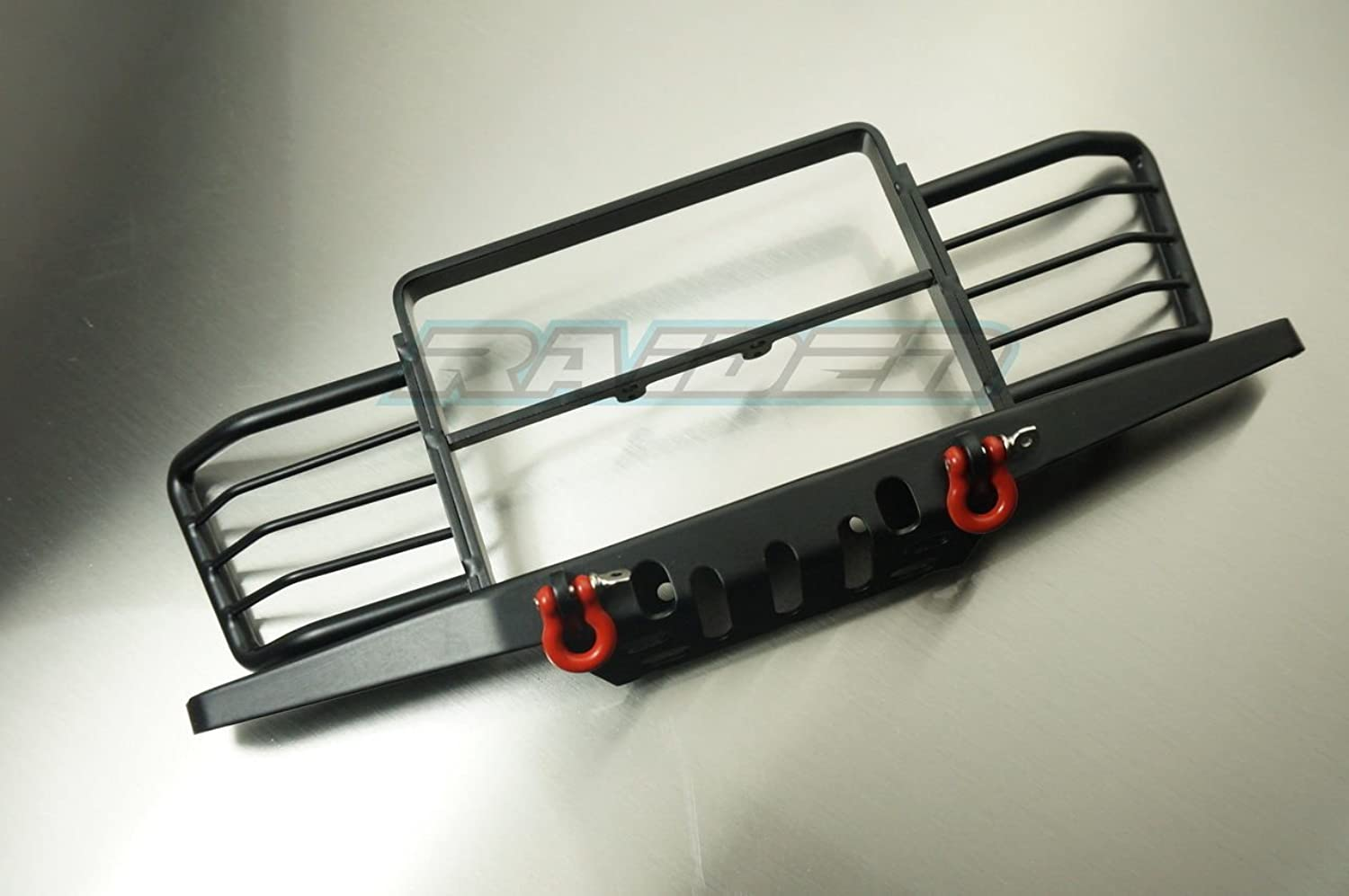 1 10 Scale RC4WD D90 D110 Gelande Land Rover Metal Front Bumper w Winch Shackles