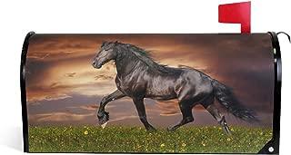 JOYPRINT Magnetic Mailbox Cover Animal Horse Sunset, Oversize 25.5