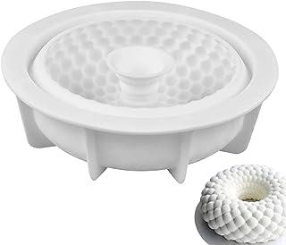 Jixista Stampi per Dolci in Silicone 3D Rotonda Ghirlanda Stampo in Silicone Dessert Stampo Fai da Te Antiaderente Silicon...