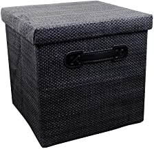 JUAN Folding Storage Chest Box Large Big Strong Stackable Container (Color : Black, Size : 28 * 28 * 27cm)
