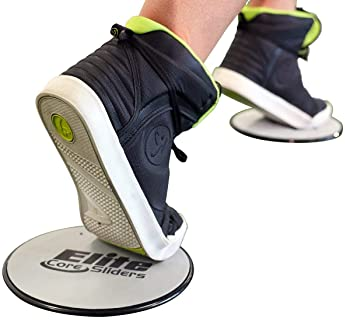 Elite Sportz Sliders for Working Out, 2 Dual Sided Gliding Discs for Exercise on Carpet & Hardwood Floors, Compact Co...