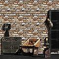Vintage Faux Brick Panel Wallpaper RollBedroom Living Room Cafe Bar Wall Decoration
