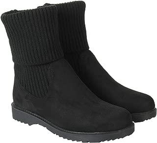 Flat n Heels Womens Black Boots FnH 159-1-BK