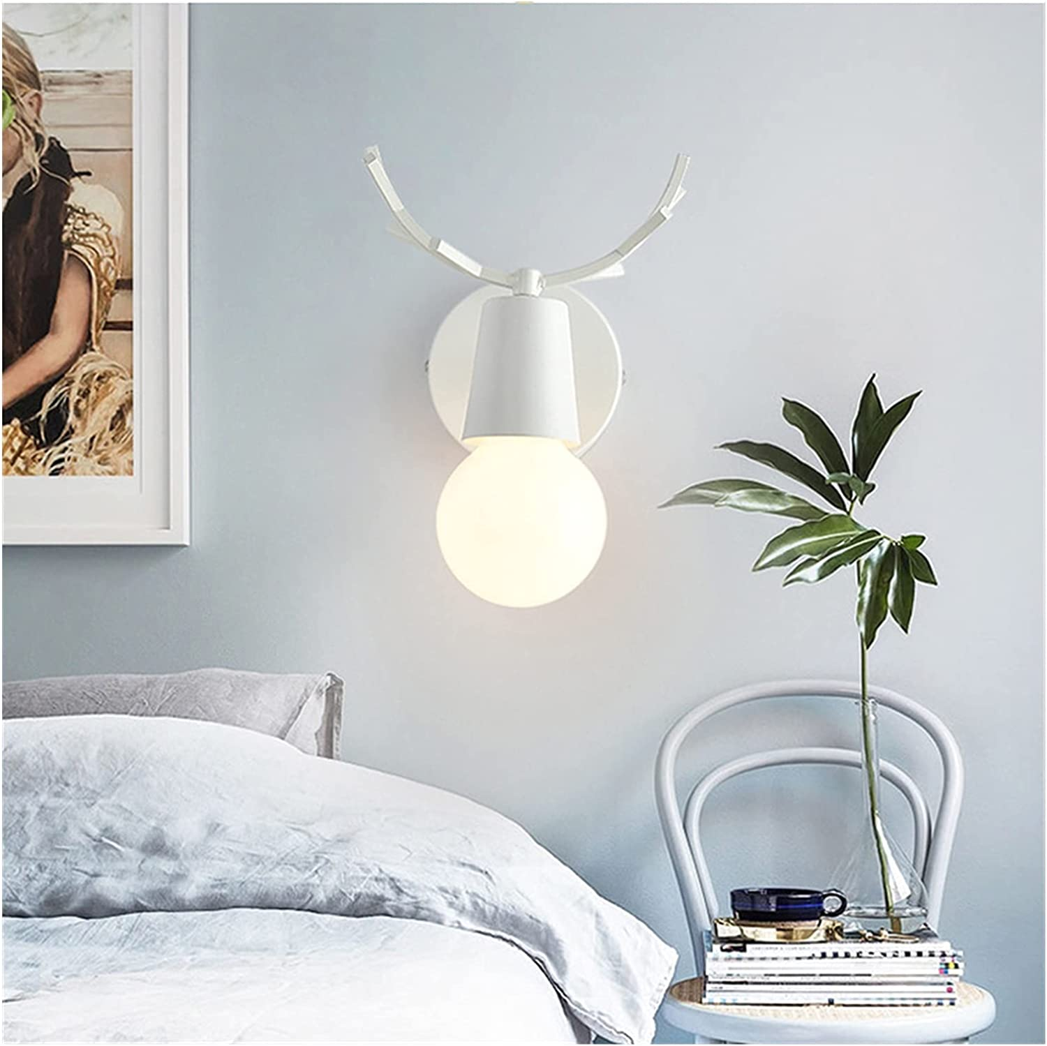 OIR724 Nordic Modern Wood Genuine Antler Beauty products Creative Lamp Personality
