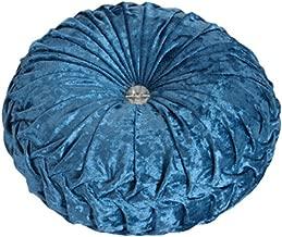 NOVWANG Round Solid Color Velvet Chair Cushion Couch Pumpkin Throw Pillow Home Decorative Floor Pillow,13.39 x 13.39,Cyan
