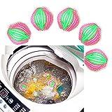 6 teile Kunststoff Maschine Waschen Wäsche Ball Stoff Reinigung Haarentfernung Bälle - 5