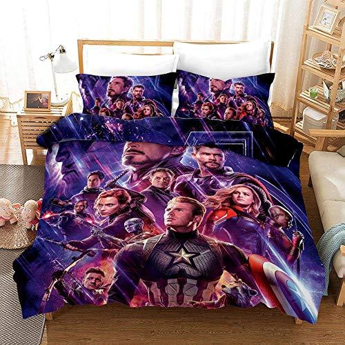 771 Duvet Cover Sets 3D The Avengers Printing Bedding Set 100% Polyester 1 Duvet Cover Set And 2 Pillowcases 3pcs A-US King259x229cm