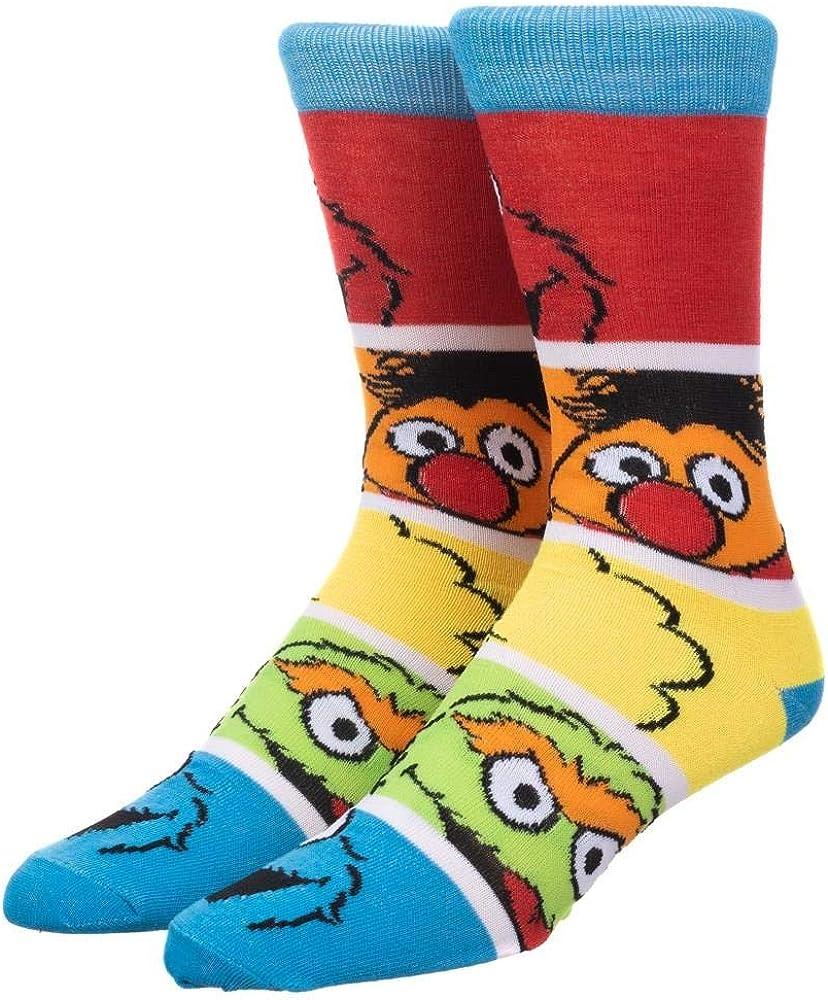 Sesame Street TV Show Mens Crew Socks