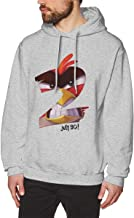 Zhenzhan Adult Men's Angry Birds 2 Casual Sweatshirts Print Hooded Pullover in 7 Colors