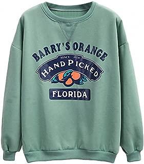 barry's orange sweatshirt