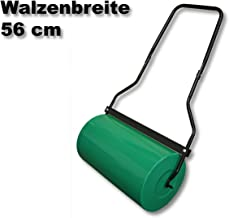 WilTec 57cm Rouleau de Jardin et de Gazon Metal avec Volume 45l