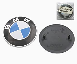 82mm BMW 2 pin Emblem Logo Replacement for Hood/Trunk for ALL Models BMW E30 E36 E46 E34 E39 E60 E65 E38 X3 X5 X6 3 4 5 6 7 8 (1pc)