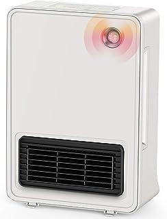 セラミックヒーター ファンヒーター 人感センサー タイマー設定可 1200W/600W 足元暖房 3段階に切り替え 転倒自動オフ 小型 電気ヒーター 寝室 省エネ 瞬間加熱 暖房器具 安全保護 pse認証済み 一年保証