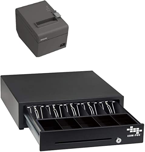 POS Hardware Bundle for Square - Cash Drawer and Thermal Receipt Printer,[Compatible with Square Stand and Square Reg...