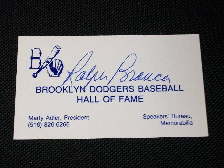 Ralph Branca Autograph Signed 19441953 Dodgers HOF Business Card an  Autographed Baseball Cards